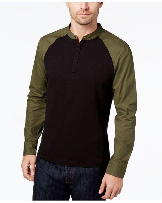 Daniel Hechter   Black Men's Colorblocked Long-sleeve Polo for Men   Lyst
