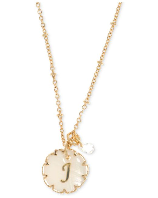 Lonna & Lilly - Metallic Gold-tone Crystal & Initial Pendant Necklace - Lyst