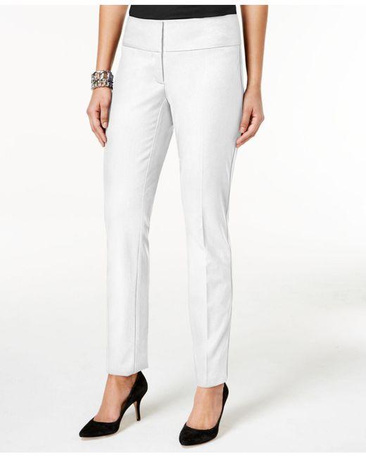 Alfani   White Slim Straight-leg Pants   Lyst