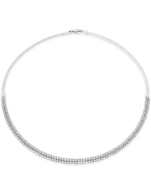 INC International Concepts - Metallic Silver-tone Imitation Pearl And Pavé Circle Lariat Necklace - Lyst