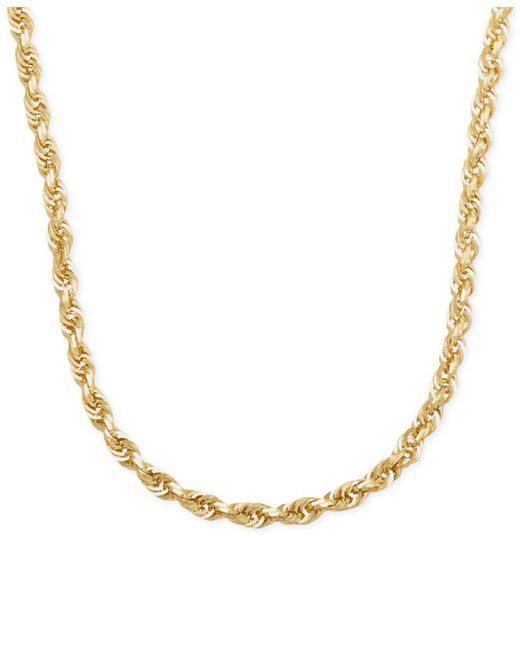 "Macy's | Metallic Rope Chain 22"" Necklace In 14k Gold 