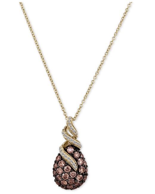 Le Vian - Metallic Chocolatier Chocolate Diamonds Pendant Necklace (1-1/8 Ct. T.w.) In 14k Gold - Lyst