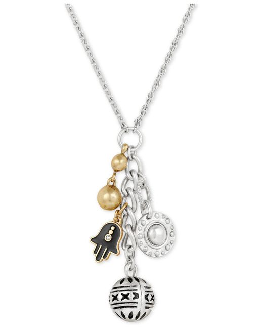 "Lucky Brand - Metallic Two-tone Hamsa Charms Pendant Necklace, 22"" + 2"" Extender, Created For Macy's - Lyst"