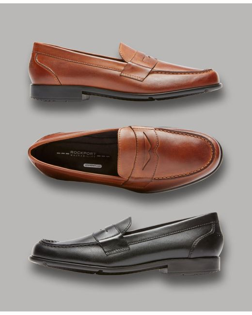 Rockport Classic Penny Loafers in Black for Men - Lyst