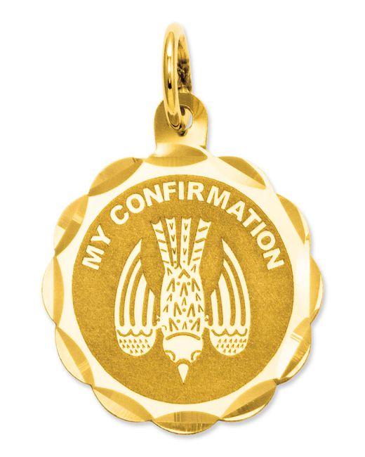 Macy's - Metallic 14k Gold Charm, My Confirmation Charm - Lyst