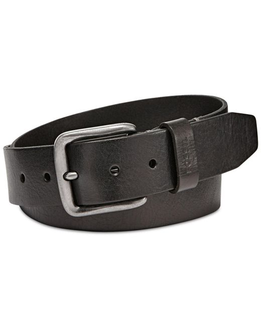 Fossil - Black Brody Leather Belt - Lyst
