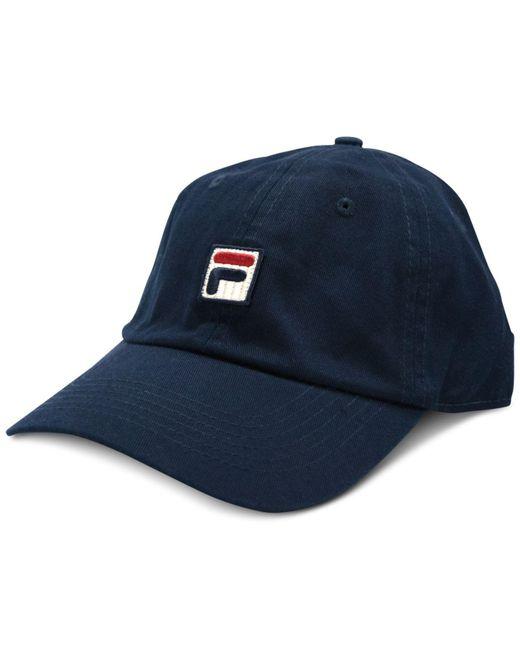 Fila - Blue Heritage Cotton Baseball Cap - Lyst