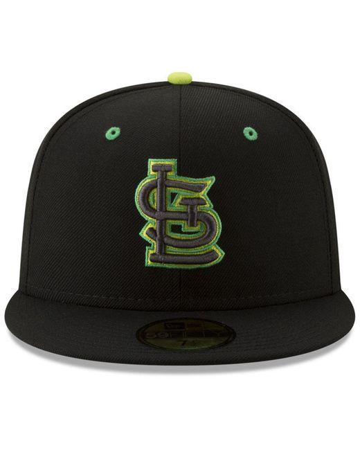 super popular 604ee 9129c ... KTZ - Black St. Louis Cardinals Night Moves 59fifty Fitted Cap for Men  - Lyst ...