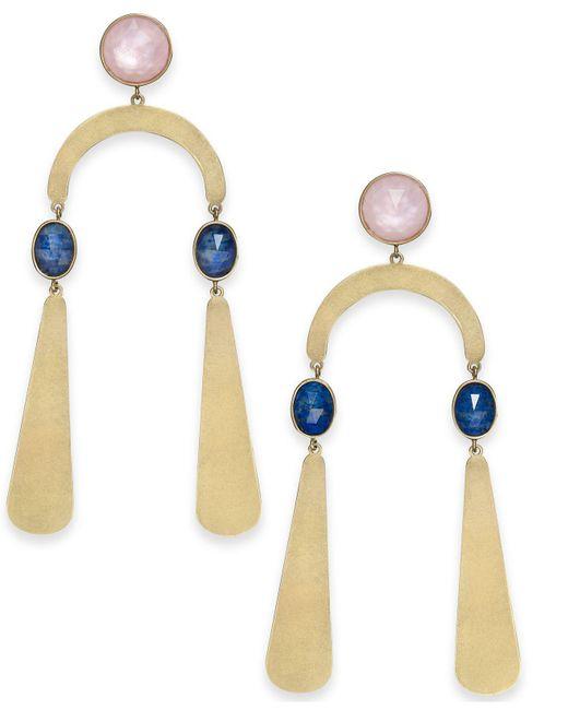 Kate Spade - Metallic Gold-tone Multi-stone Statement Earrings - Lyst