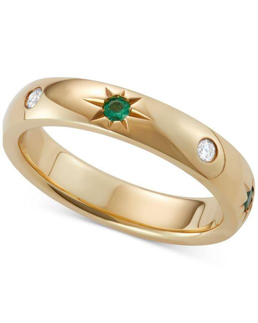 Marchesa - Metallic Emerald (1/10 Ct. T.w.) & Diamond (1/10 Ct. T.w.) Band In 18k Gold - Lyst