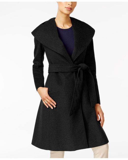 Jones New York | Black Asymmetrical Shawl-collar Coat | Lyst