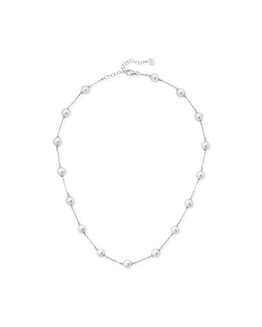 Majorica   White Silver-plated Imitation Pearl Chain Collar Necklace   Lyst