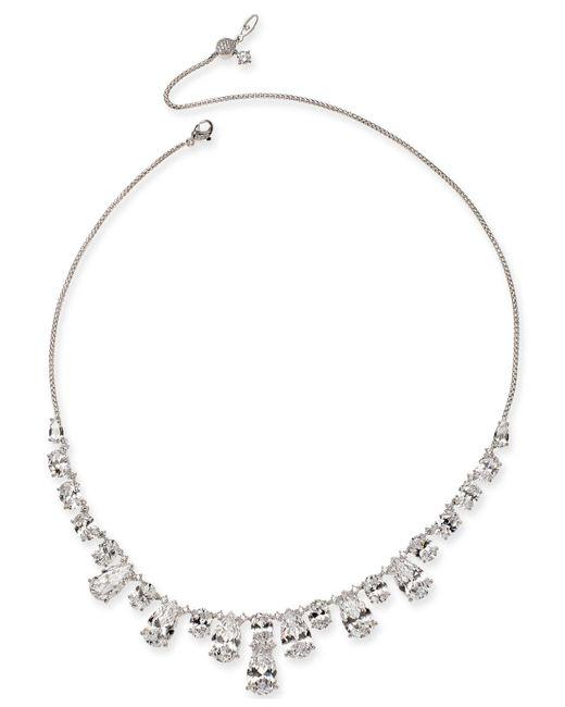 Danori - Metallic Silver-tone Crystal Collar Necklace, Created For Macy's - Lyst