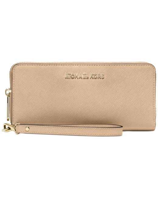 Michael Kors | Natural Jet Set Travel Continental Wallet | Lyst
