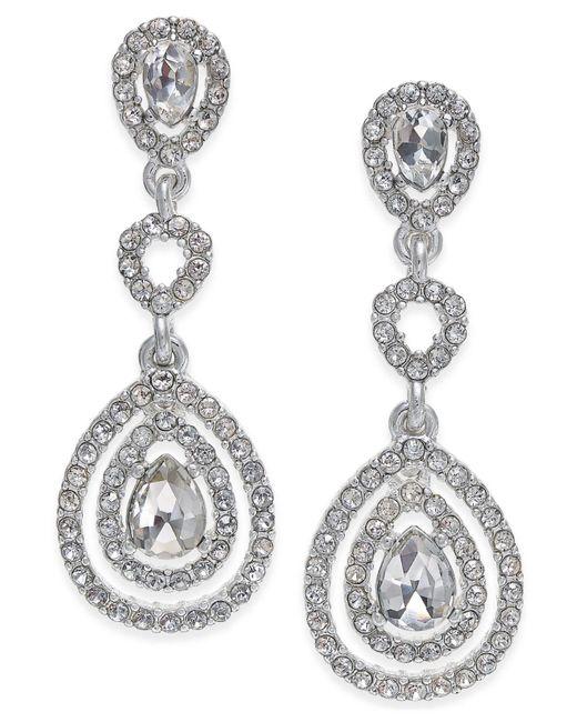 Charter Club | Metallic Gold-tone Crystal And Pavé Orbital Drop Earrings, | Lyst