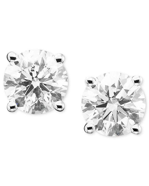 Macy's - Metallic Diamond Stud Earrings (1/3 Ct. T.w.) In 14k White Or Yellow Gold - Lyst