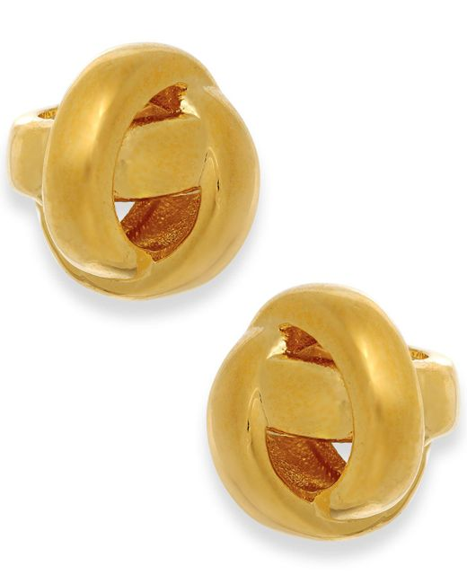 Kate Spade | Metallic Gold-tone Knot Stud Earrings | Lyst