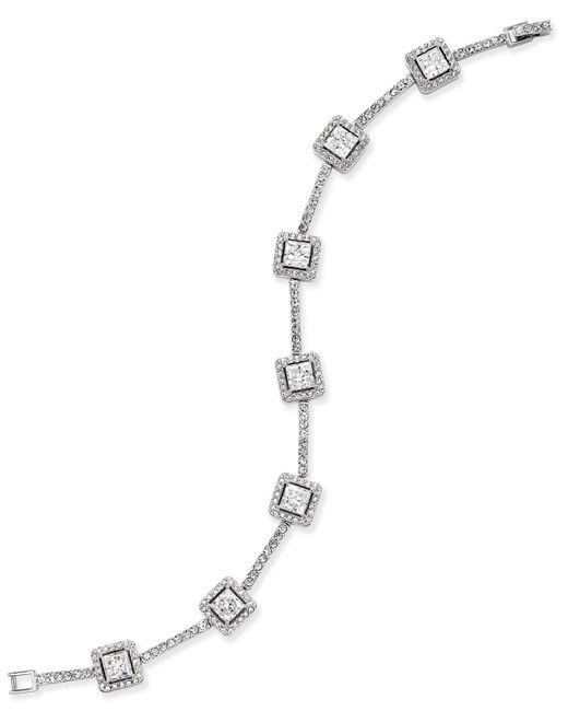 Danori - Metallic Silver-tone Square Crystal Bracelet - Lyst
