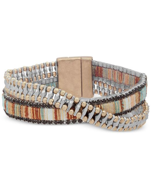 Lonna & Lilly - Natural Mixed Crossover Bracelet - Lyst