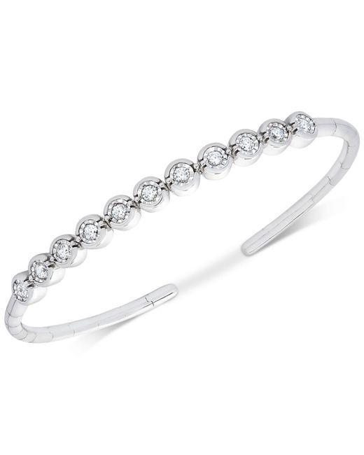 Macy's - Metallic Diamond Bezel Bangle Bracelet (1/2 Ct. T.w.) - Lyst