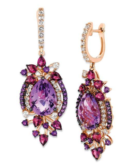 Le Vian - Metallic Multistone Drop Earrings In 14k Rose Gold (13-1/2 Ct. T.w.) - Lyst