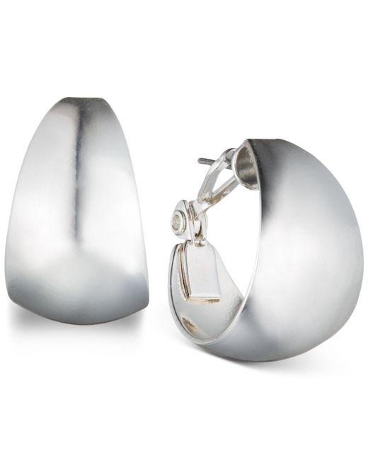Anne Klein - Metallic Medium Band Hoop Earrings - Lyst