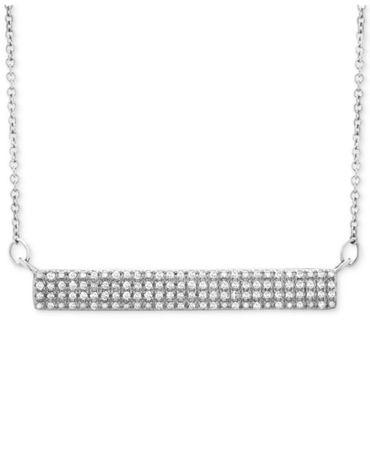 Wrapped in Love - Metallic Diamond Horizontal Bar Cluster Necklace (1/4 Ct. T.w.) In 10k White Gold - Lyst