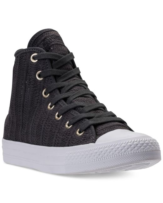 Converse - Black Chuck Taylor Hi Woven Casual Sneakers From Finish Line for  Men - Lyst ... 78bc3e4aa