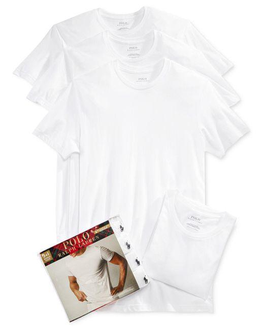Polo Ralph Lauren | White Men's 3+1 Bonus Pack Crew-neck Undershirts for Men | Lyst