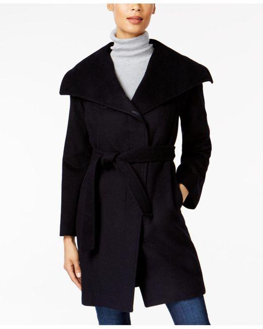 Jones New York   Blue Asymmetrical Coat   Lyst