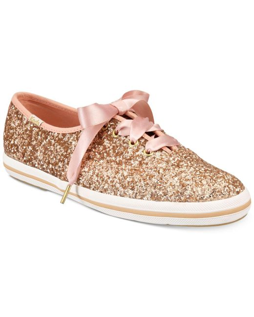 Kate Spade - Multicolor Glitter Lace-up Sneakers - Lyst