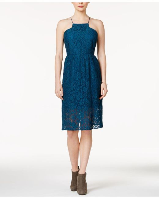 Kensie | Blue Lace Racerback Dress | Lyst