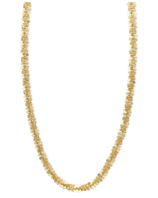 Macy's | Metallic 14k Gold Necklace, Faceted Chain | Lyst