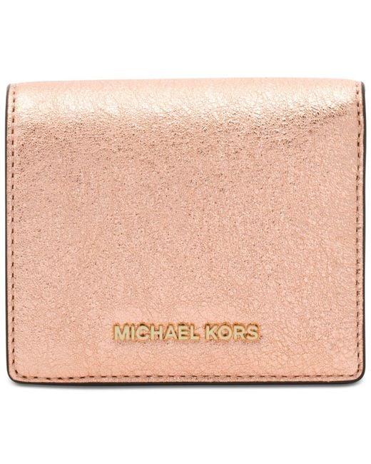 Michael Kors   Pink Money Pieces Flap Card Holder   Lyst