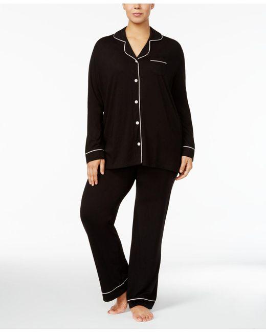 Cosabella - Black Bella Plus Size Contrast-trim Pajama Set Amore9641p - Lyst