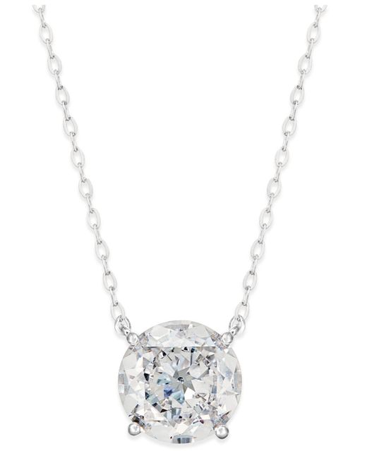 Danori - Metallic Silver-tone Crystal Pendant Necklace - Lyst