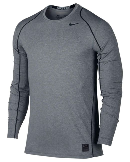 Nike | Black Pro Cool Dri-fit Fitted Long-sleeve Shirt for Men | Lyst