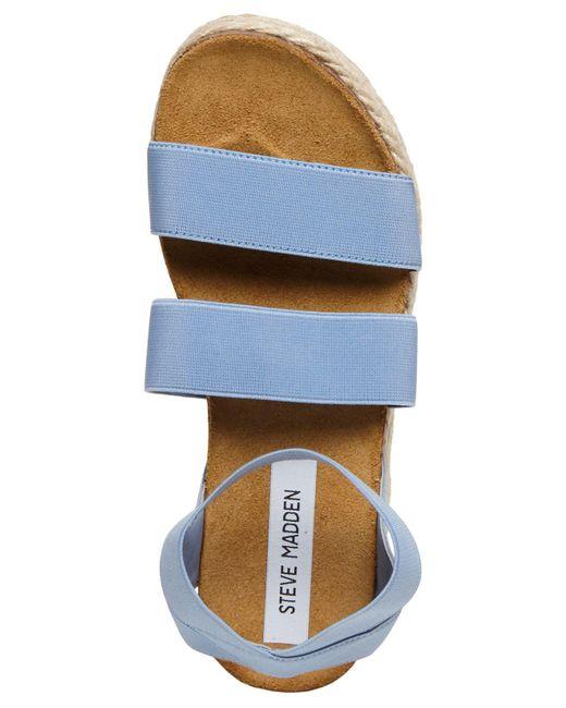 4b60a274e21ac8 ... Lyst Steve Madden - Blue Kimmie Espadrille Sandal (black) Women s Shoes  ...