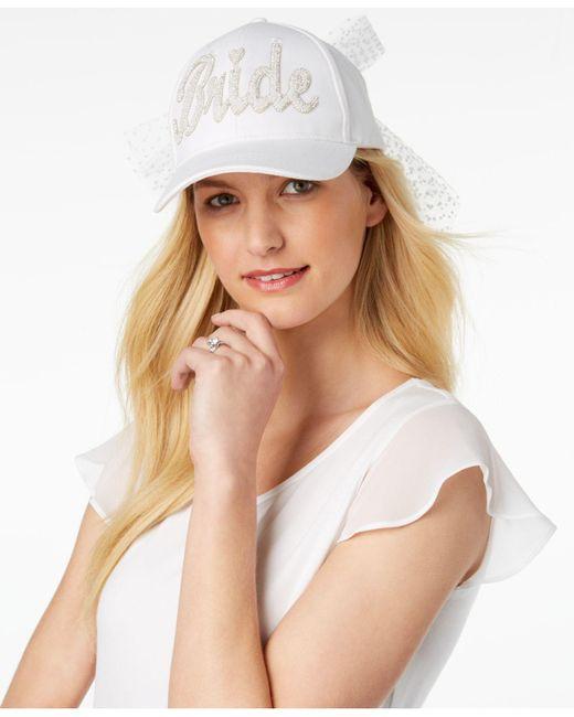 Betsey Johnson - White Retro Bride Baseball Hat - Lyst