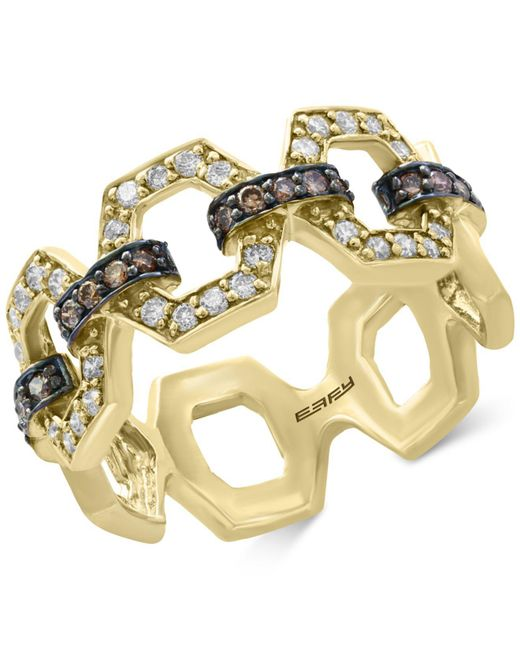 Effy Collection | Metallic Diamond Link Statement Ring (1/2 Ct. T.w.) In 14k Gold | Lyst