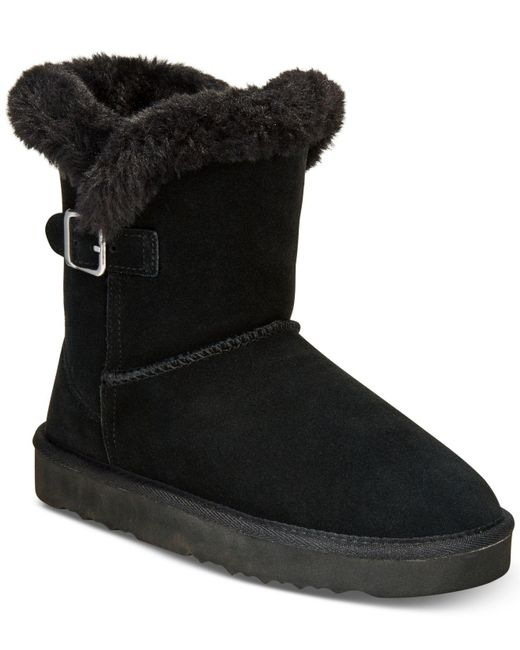 Style & Co. | Black Tiny Low Shaft Faux-fur Cold Weather Booties | Lyst