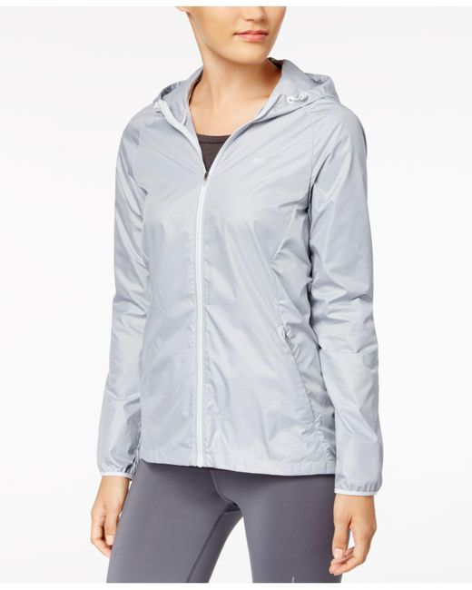 Nike | Gray Essential Hooded Running Jacket | Lyst