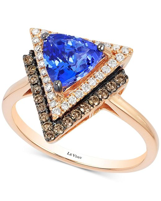 Le Vian - Pink Tanzanite (1 Ct. T.w.) And Diamond (1/3 Ct. T.w.) Geometric Ring In 14k Rose Gold - Lyst