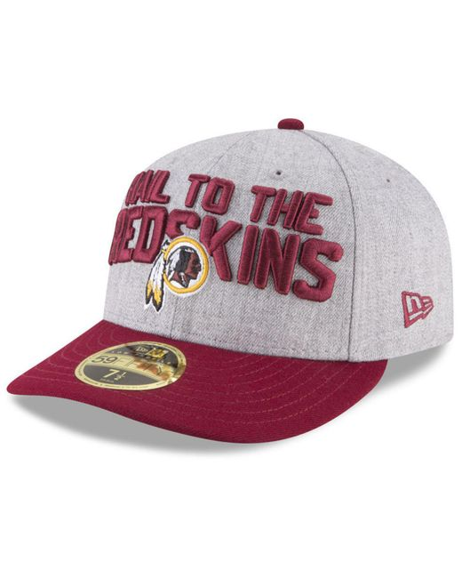 45535a85c KTZ - Multicolor Washington Redskins Draft Low Profile 59fifty Fitted Cap  for Men - Lyst ...