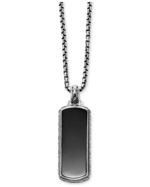 Scott Kay | Metallic Men's Onyx (36 X 14mm) Dog Tag Necklace In Sterling Silver for Men | Lyst