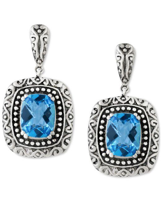 Effy Collection | Blue Topaz (5 Ct. T.w.) Drop Earrings In Sterling Silver | Lyst