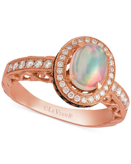 Le Vian - Pink Opal (2/3 Ct. T.w.) And Diamond (5/8 Ct. T.w.) Ring In 14k Rose Gold - Lyst