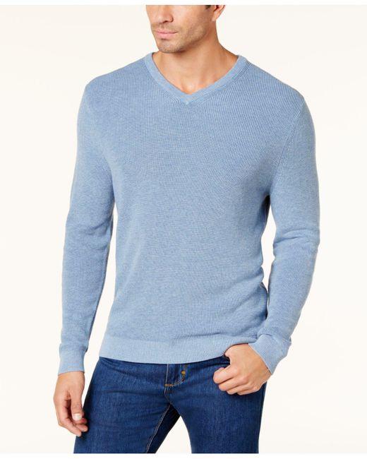 Tommy Bahama - Blue Men's Las Palmas Flip Pima Cotton Sweater for Men - Lyst