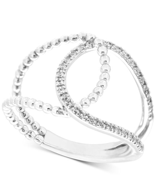 Wrapped in Love | Diamond Loop Ring (1/6 Ct. T.w.) In 10k White Gold | Lyst