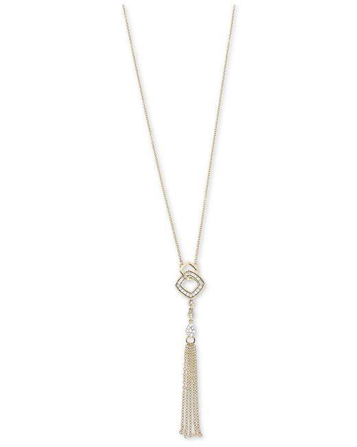Macy's - Metallic Diamond Tassel Lariat Adjustable Necklace (1/6 Ct. T.w.) In 14k Gold - Lyst